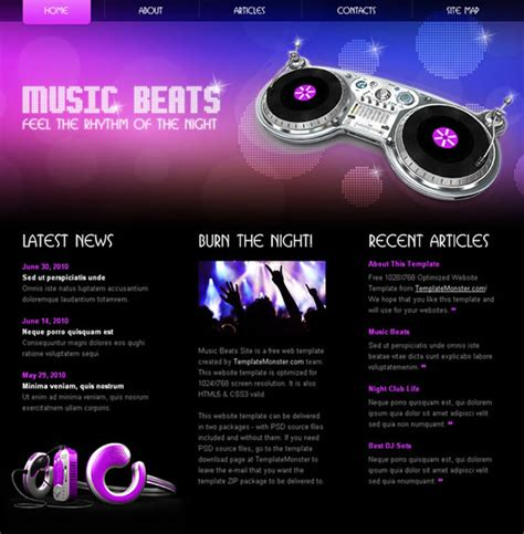 templates for music website free download tecnolog 237 a comunicaci 243 n contenidos inform 225 ticos y