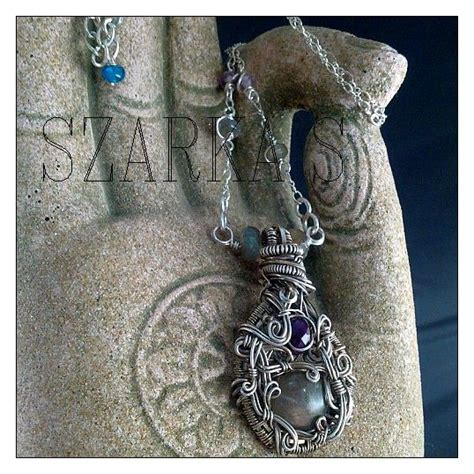Kaos Metal Chain labradorite and sugilite kaos wrapped in sterling wire