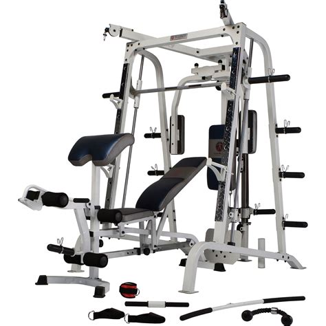 marcy mwb4300 smith machine 140kg olympic weight set ex