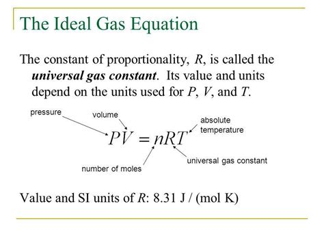 universal gas constant the ideal gas laws chapter ppt video online download