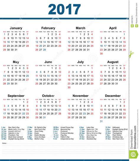 Calendario Noviembre 2017 Estados Unidos Fondo Blanco De 2017 Estados Unidos Calendario