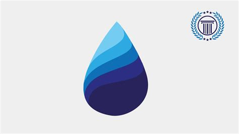 how to design a logo in coreldraw x6 blue water drop logo design tutorial using adobe