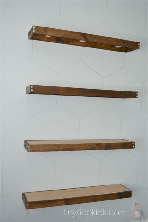 diy rustic modern floating shelves tutorial