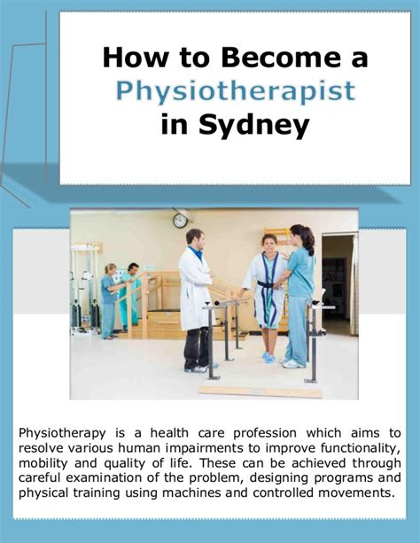 How To Become A by How To Become A Physiotherapist In Sydney