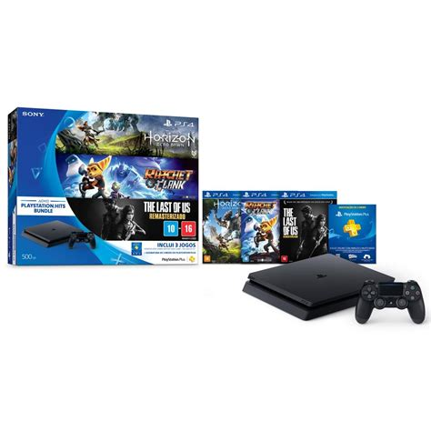 console playstation console playstation 4 slim 500 gb pacote playstation hit