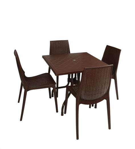 Set Olive 3w supreme globus brown plastic table chair set price in