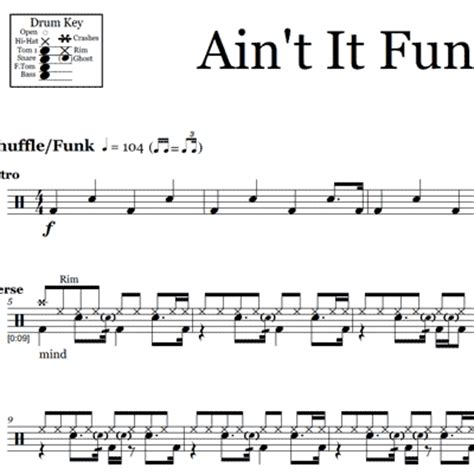 aint it fun paramore hard times paramore drum sheet music onlinedrummer com