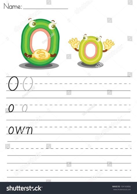 the illustrated a z of illustrated alphabet worksheet letter o stock vector 104160806 shutterstock