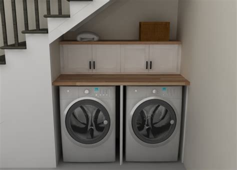 washer dryer cabinet ikea small spaces an ikea laundry room under the stairs