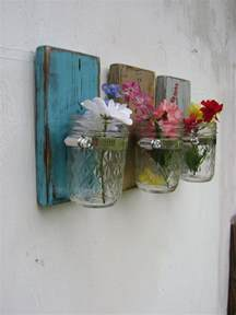 wall vase decor shabby chic rustic wooden vases sconce jar wood vase