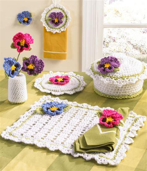 Pansy kitchen set crochet pattern pdf