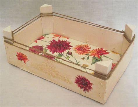 Decoupage Photo Transfer - cajas de fresas decoradas utilizando varias t 233 cnicas