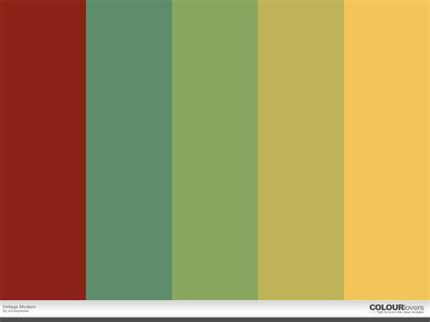 color palette vintage modern color palettes
