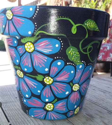 pot designs ideas 25 best ideas about painted clay pots on pinterest