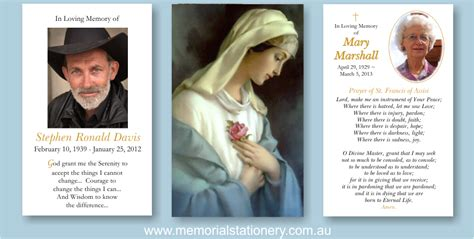 catholic prayer card templates ave funeral prayer cards memorial thank you