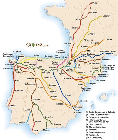 camino de satiago mapa general camino de santiago camino de santiago