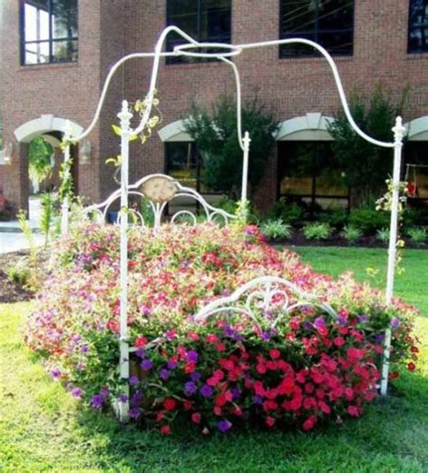 diy flower bed 15 brilliantly creative ways to upcycle an old bed frame