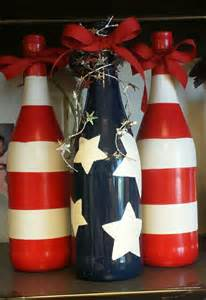 4th of July Wine Bottle Craft