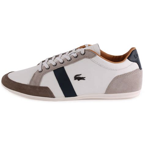 lacoste alisos 20 mens leather suede white trainers