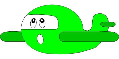 pesawat terbang hijau kartun gambar vektor gratis  pixabay