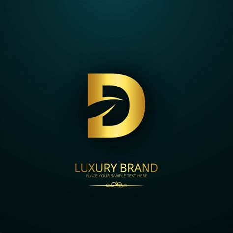 luxury brand letter d design vector free download