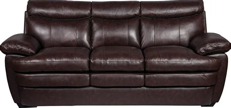 The Brick Leather Sofa by Marty Genuine Leather Sofa Brown The Brick