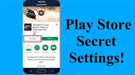 Play Store Settings New Play Store Secret Settings