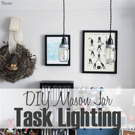 craft room lighting diy jar task lighting cleveland vintage lighting