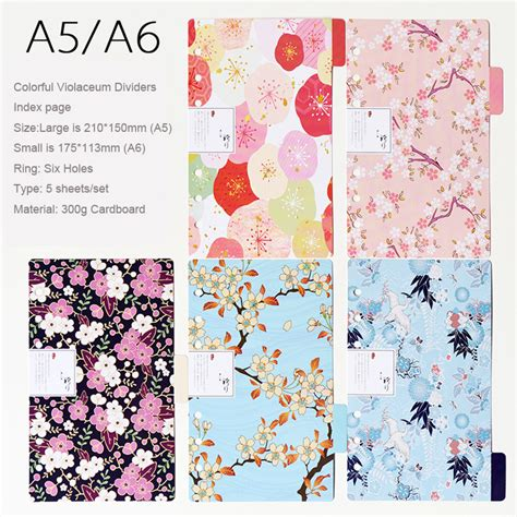 Agenda Note Book Flower Collection popular book dividers buy cheap book dividers lots from china book dividers suppliers on