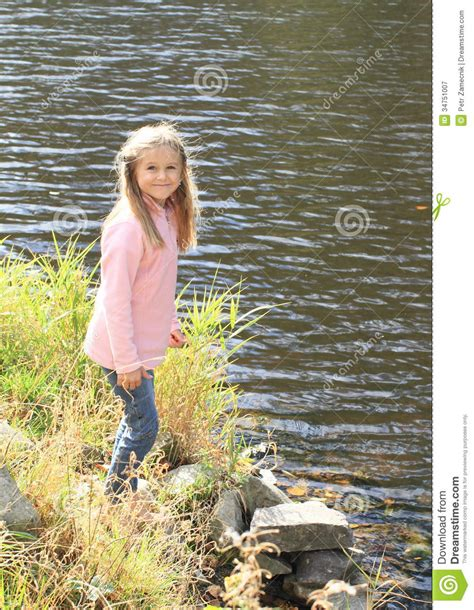 The Blue River Shirt Bombboogie walking to river royalty free stock photography