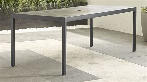 gray rectangle dining table alfresco grey rectangular dining table crate and barrel
