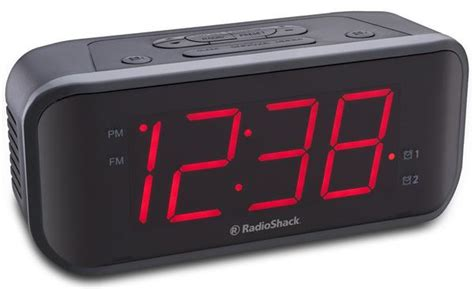 radioshack 1 8 inch led loud dual alarm clock radio