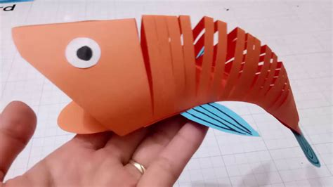 3d Paper Crafts For - how to make a paper moving fish easy crafts 3d paper fish
