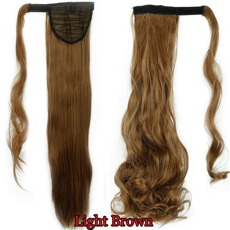 real ponytail hair extensions us 100 real new clip in hair extension wrap