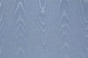 Blue Floral Upholstery Fabric Moire Taffeta Decorator Fabric In Cornflower