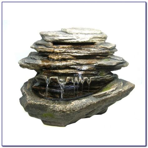 tabletop rock fountains tabletop home design ideas