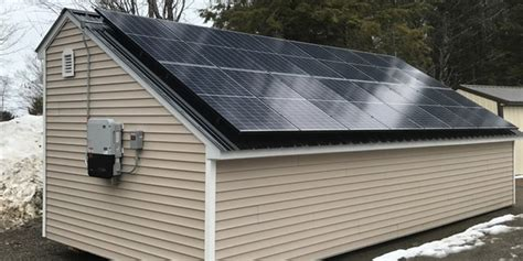 Shed Solar Panels by Maine Sheds Modern Woodtech Real Wooden Buildings And Products
