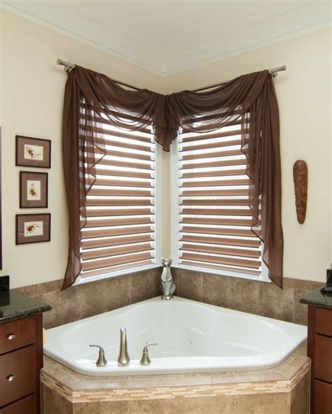 bathroom drapery ideas 17 best ideas about corner window treatments on