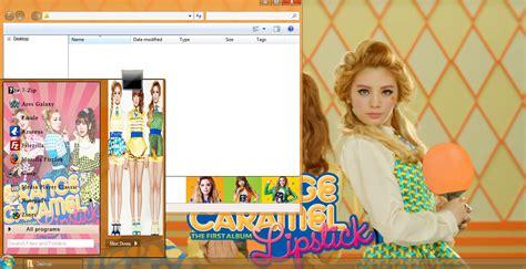 kpop theme hunter my kpop fanatik orange caramel lipstick windows 7 theme