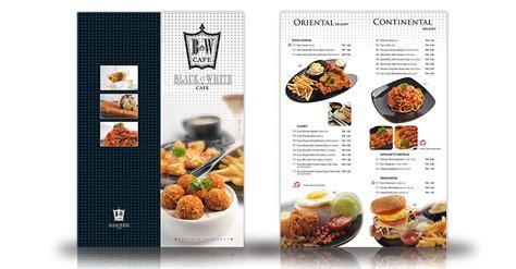 white cafe menu black white cafe menu maxwave design marketing melaka malaysia advertising