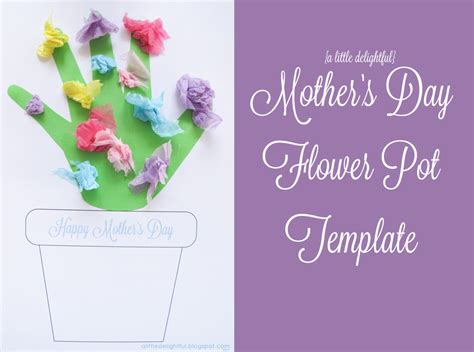 printable flowers mother s day a little delightful printable mother s day flower pot