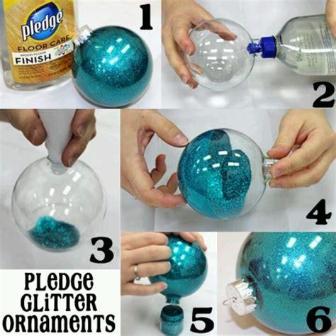 pledge glitter ornaments christmas pinterest
