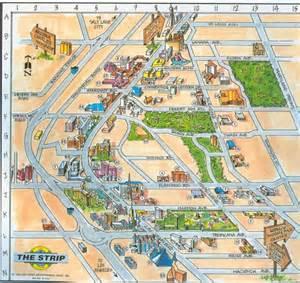 Strip Map Las Vegas by Map Of Las Vegas Strip Pictures To Pin On Pinterest