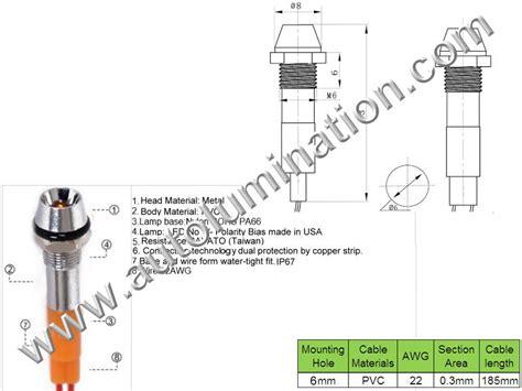 Lu Indikator Panel high powered leds components autolumination