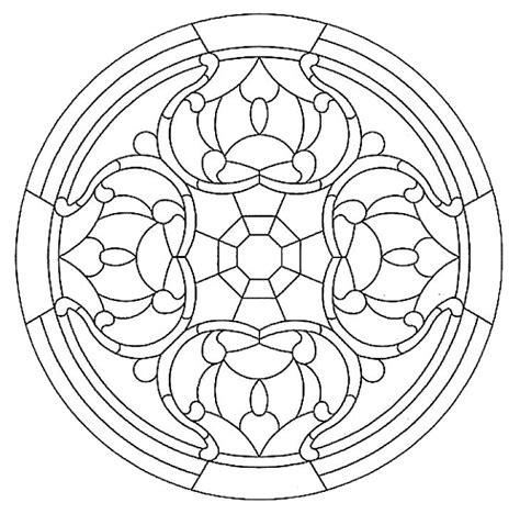 mandala stained glass coloring books mandala 592 mandala stained glass pattern book dover