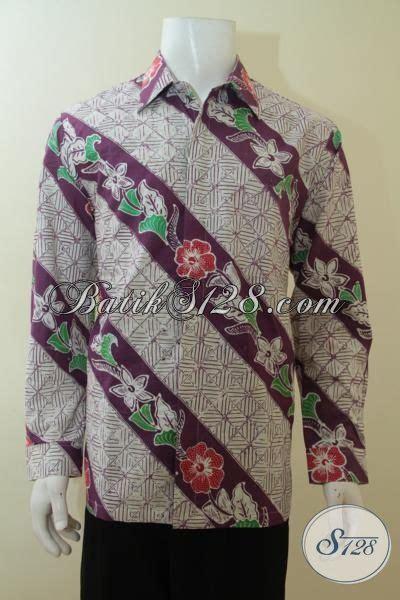Batik Slimfit Premium Bunga Parang Serangkai kemeja batik ungu motif parang bunga model bagus dan mewah baju batik premium proses tulis