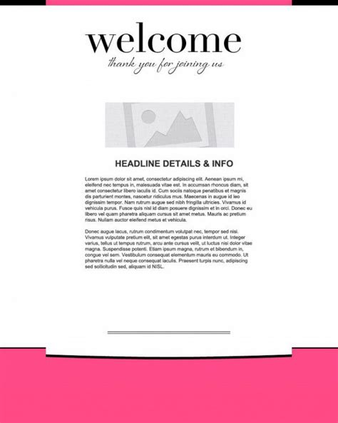 Welcome Template welcome email marketing templates welcome email templates