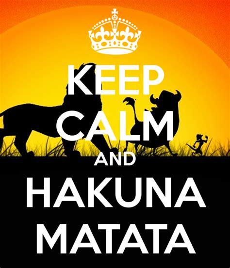 Hakuna Matata Wall Stickers keep calm and hakuna matata keep calm and carry on image