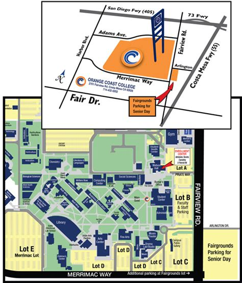 occ map orange coast college map pictures to pin on pinsdaddy