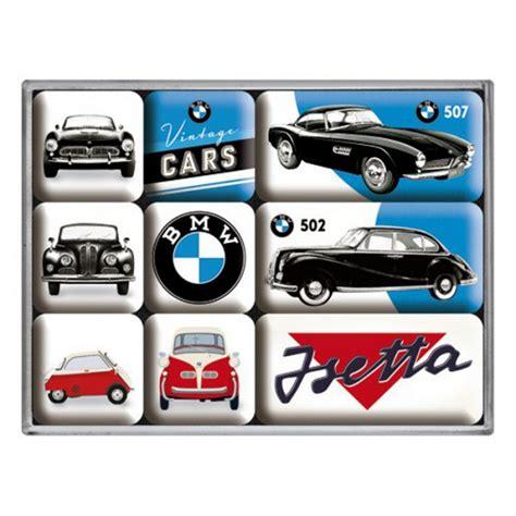 bmw vintage logo set de 9 magnets bmw vintage 502 507 isetta logo